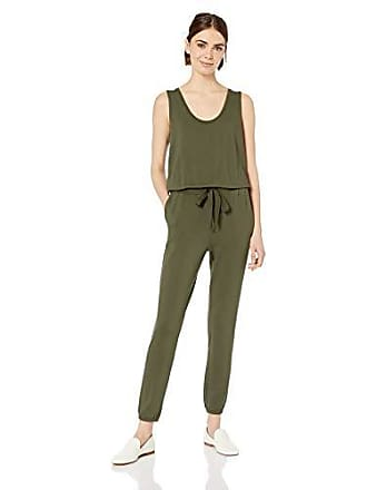 Daily Ritual Womens Supersoft Terry Sleeveless Jumpsuit, Olive, XX-Large