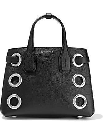 6f00fba265 Burberry Burberry Woman Eyelet-embellished Textured-leather Tote Black Size