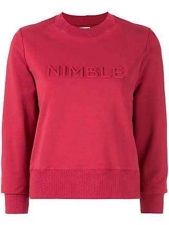 Nimble Activewear Moletom com logo em relevo - Vermelho