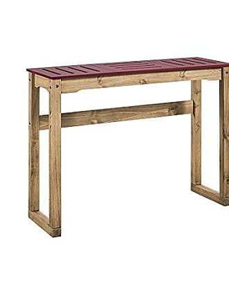 Manhattan Comfort CS105503 Stillwell Bar Table, Large, Red/Natural Wood