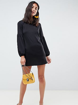 New Look Tall balloon sleeve tunic dress - Black