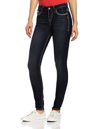 Silver Jeans Co Silver Jeans Womens Suki Dark Wash Curvy Super Skinny Jean, Indigo, 25x31