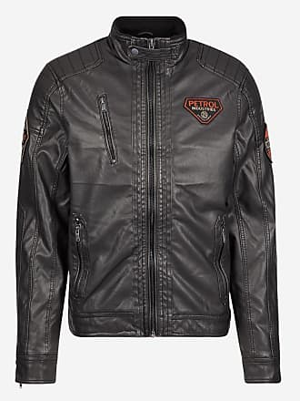 5937d93810685 Petrol Industries Blouson court style motard effet cuir Noir Petrol  Industries