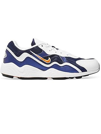 65ec4979f4f Nike Zoom Alpha Leather And Mesh Sneakers - Navy