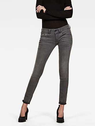 Jeans skinny femme G star noir délavé