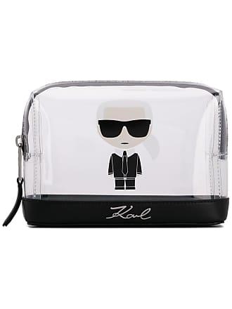 Karl Lagerfeld Bolsinha transparente K/Ikonik - Branco
