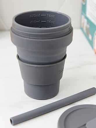 Stojo brooklyn biggie 16oz carbon grey pocket cup-Blue