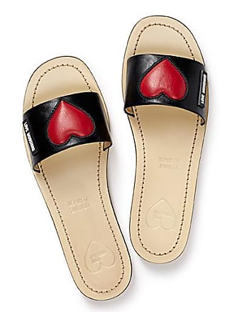 Love Moschino Embossed heart slides