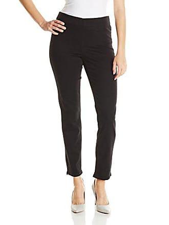 NYDJ Womens Alina Ankle Jeans, Black, 10