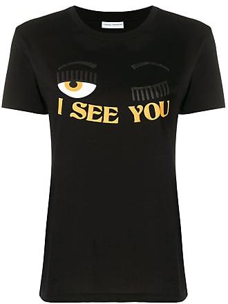 Chiara Ferragni Camiseta com estampa I see you - Preto