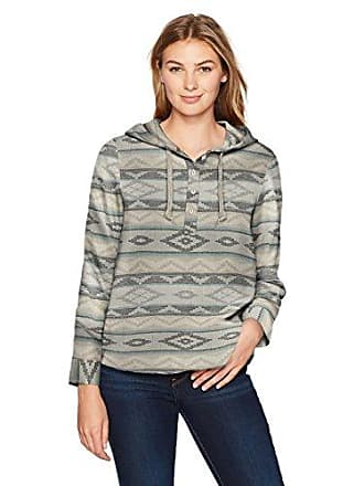 Woolrich Womens First Light Jacquard Hoodie, Ivory, XS