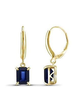 JewelersClub JewelersClub 3-3/4 Carat T.G.W. Sapphire 14kt Gold over Silver Drop Earrings