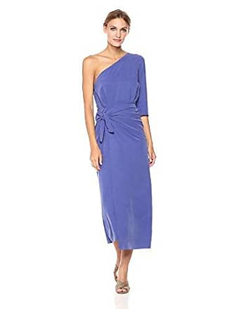 6e214c69adf Mara Hoffman Womens Shirley One Shoulder Tie Front Midi Dress, Purple 2