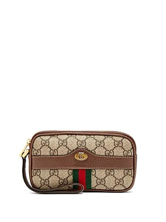 Gucci Ophidia Gg Supreme Clutch - Womens - Grey Multi