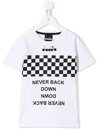 Diadora Camiseta com lista quadriculada - Branco