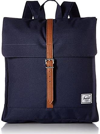 Herschel City Mid-Volume Backpack, Peacoat/Tan Synthetic Leather, One Size
