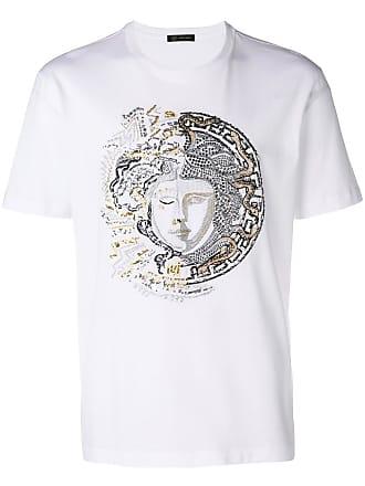 Versace Camiseta Medusa com aplicação - Branco