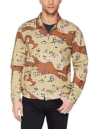 Obey Mens Driver Military Jacket, Chocolate chip camo M