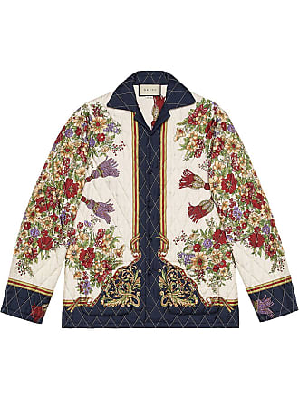 8c47c8a77d040 Gucci Quilted jacket with flowers and tassels - White