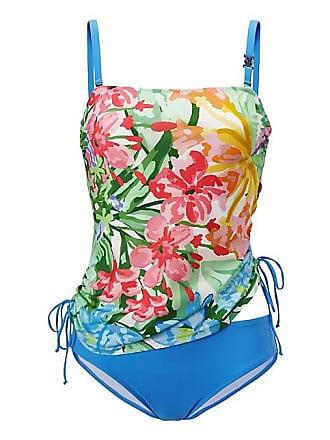 15890e6912fd0 Madeleine FÉRAUD Tankini mit Blumenmuster Damen weiss/multicolor / blau