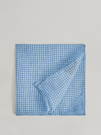Hackett Gingham Linen Pocket Square   Green