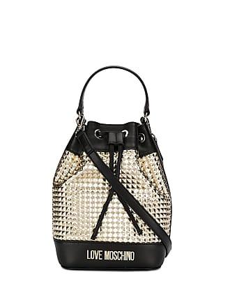 Love Moschino rockstud panel bucket bag - Black