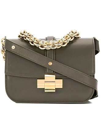 N°21 chain detail shoulder bag - Green 8f786fe48322e