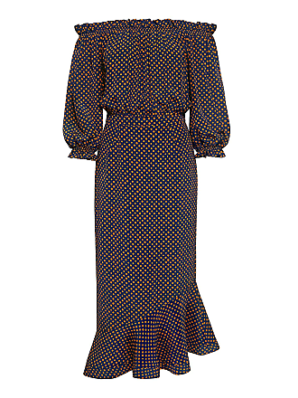 3f8be0c5330 Saloni Grace Off-The-Shoulder Polka-dots Midi Dress Saffron polka. -50%. In  high demand