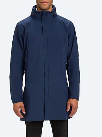 Ministry of Supply Mens Navy Waterproof Rain Coat Dry Days Jacket XXS