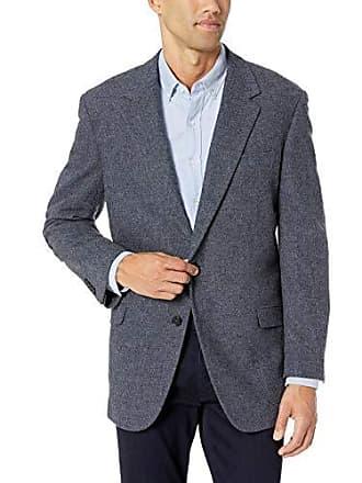 U.S.Polo Association Mens Portly Wool Blend Sport Coat, Blue Donegal, 46 Regular