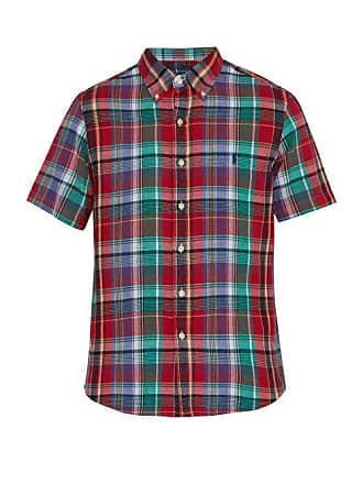Casual Button-down Shirts Men's Clothing Ralph Lauren Blake Fit Button Down Dress Shirt Mens Large Gray Black Plaid