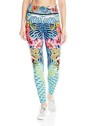 Luli Fama Womens Engineered Print Legging, Multi, L