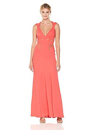 Bcbgmaxazria BCBGMax Azria Womens Reese Sleeveless Woven Gown with Lace Inserts, Ambrosia 2