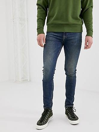 Asos super skinny jeans in vintage dark wash-Blue