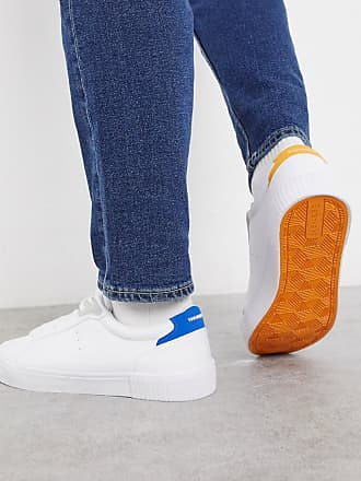 Bershka white trainers with contrasting sole