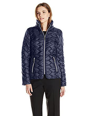 Betsey Johnson Womens Lightweight Packable Jacket, Marine Navy, Large