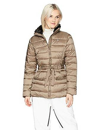 U.S.Polo Association Womens Puffer, Faux Fur Collar Fossil KCCD, M