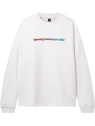 Opening Ceremony Opening Ceremony Woman Cozy Embroidered Cotton-jersey Sweatshirt White Size XS