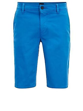 4bedaff0c BOSS Slim-fit chino shorts in double-dyed stretch satin