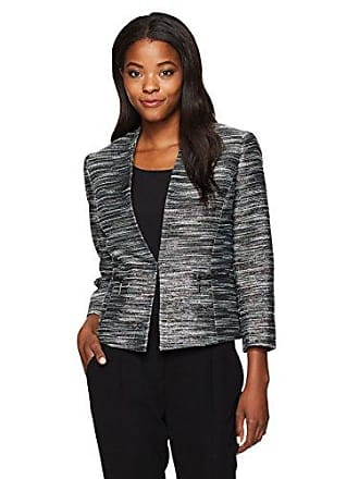 Kasper Womens Metallic Tweed Flyaway Jacket, Peacock Multi, 10