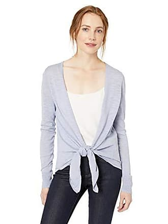 Daily Ritual Womens Lightweight Tie-Front Cardigan, Periwinkle,Large