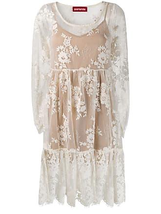 Guardaroba Vestido flare de renda - Branco