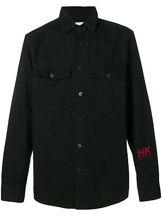 Han Kjobenhavn Camisa com logo bordado - Preto