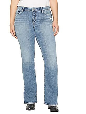 2a31de806ed Silver Jeans Co Womens Plus Size Avery Curvy Fit High Rise Bootcut Jeans  with Vent,