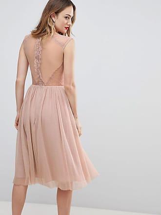 Asos Tall Midi-T-Shirt-Kleid mit Spitzeneinsätzen - Rosa 5cc684eae0