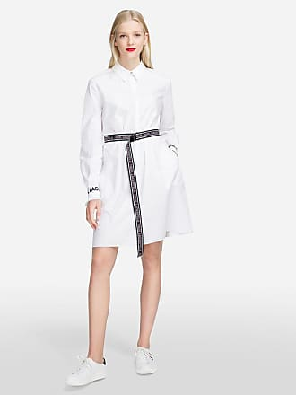 Karl Lagerfeld Shirt Dress With Logo Belt