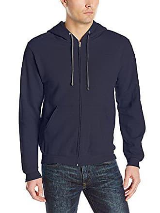 Fruit Of The Loom Mens Full-Zip Hooded Sweatshirt, Navy, Large