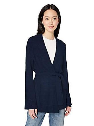 Daily Ritual Womens Long-Line Open-Front Cardigan Sweater, navy, Large