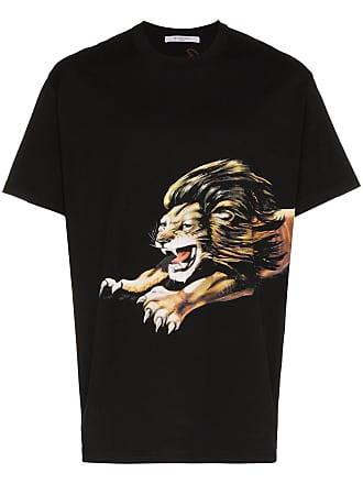 Givenchy Camiseta com estampa de leão - Preto
