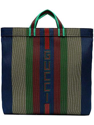 f3dedffae Gucci Multicoloured Stripe Logo Tote - Green